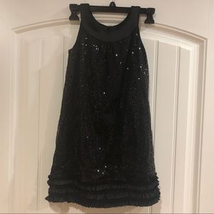 Little girl's black sequin dress. Size 8